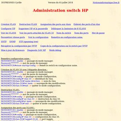 Administration switch HP