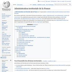 Administration territoriale de la France