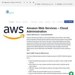 Amazon Web Services – Cloud Administration