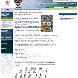 Registre national des adresses - Administration du cadastre et de la topographie - Parcelles / résidences