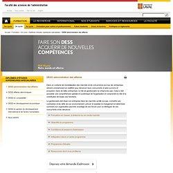 DESS administration des affaires - Faculté des sciences de l'administration - Université Laval