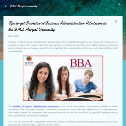 Tips to get Bachelor of Business Administration Admission in the BML Munjal University