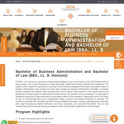 BBA LL.B.: Dual Degree in Business Administration and Law