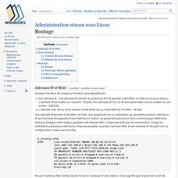 Administration réseau sous Linux/Routage
