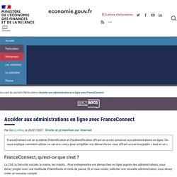 Accéder aux administrations en ligne avec FranceConnect