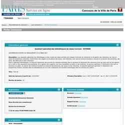 Ville de Paris : Concours ASBM - Paris.fr -