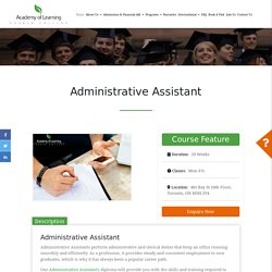 Administrative Assistant Course in Toronto