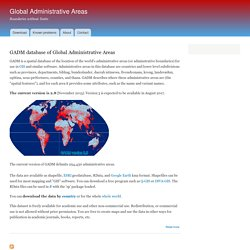 Global Administrative Areas | Boundaries without limits
