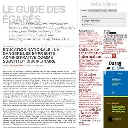 Education Nationale : la dangereuse empreinte administrative comme substitut disciplinaire: