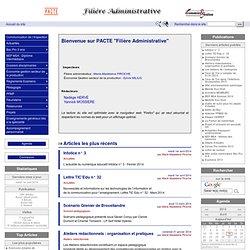 PACTE - Filiere Administrative - Economie et Gestion