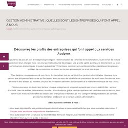 Gestion administrative : quelles sont les entreprises qui font appel à nous -...