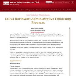 Sollus Northwest Administrative Fellowship Program
