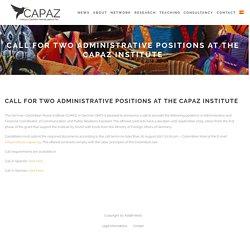 Convocatoria para dos puestos administrativos en el Instituto CAPAZ