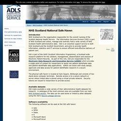 ADLS - Administrative Data Liaison Service » NHS Scotland National Safe Haven