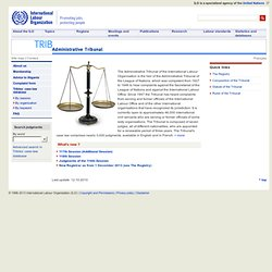 Administrative Tribunal: Home page