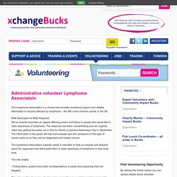Administrative volunteer Lymphoma Associatoin - xchangeBucks
