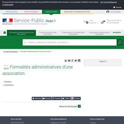 Formalités administratives d'une association - associations