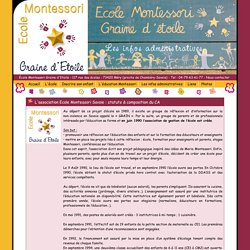 Infos Administratives / Ecole Graine d'Étoile (Proche Chambéry / Méry - Savoie - 73) 117 rue des écoles - 73420 Méry