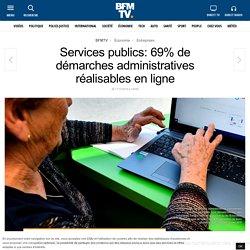 Services publics: 69% de démarches administratives réalisables en ligne