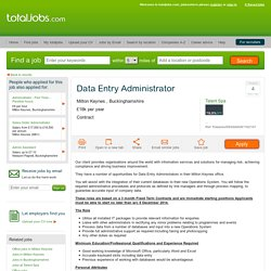 Data Entry Administrator