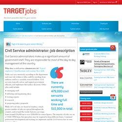 Civil Service administrator: job description