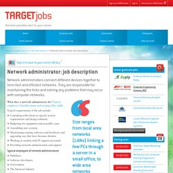 Network administrator: job description
