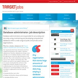 Database administrator: job description