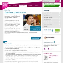 Database administrator Job Information