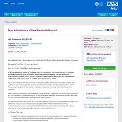 Team Administrator - Stoke Mandeville Hospital