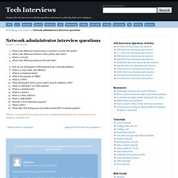 NETadMIN Interviews
