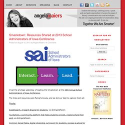 Smackdown: Resources Shared at 2013 School Administrators of Iowa Conference