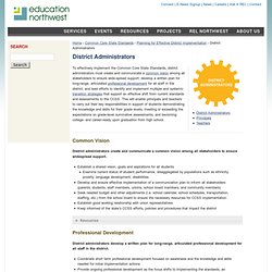 District Administrators | Education Northwest