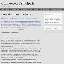 An open letter to administrators…