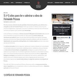 5 (+1) sites para ler e admirar a obra de Fernando Pessoa : Blog Lisboa Pessoa Hotel