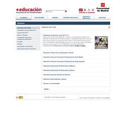 Admisión 2017-2018 - Madrid.org - Portal de Educación
