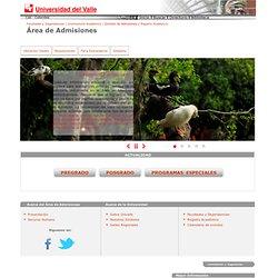 Área de Admisiones / Universidad del Valle / Cali, Colombia