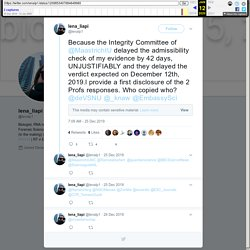 """lena_liapi on Twitter: """"Because the Integrity Committee of @MaastrichtU delayed the admissibility check of my evidence by 42 days, UNJUSTIFIABLY and they delayed the verdict expected on December 12th, 2019.l provide a first disclosure of the 2 Profs respo"""