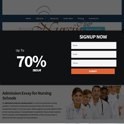Nursing Club: Admission Essays Help, Application Essay Writing Services