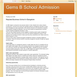 Gems B School Admission: Reputed Business School in Bangalore
