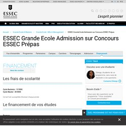 BOURSE ESSEC Grande Ecole Admission sur Concours ESSEC Prépas - Grande Ecole - MSc in Management - ESSEC Business School