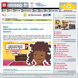 Admission post-bac (APB) : constituer ses dossiers