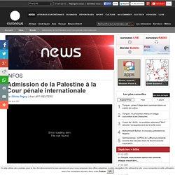 Admission de la Palestine à la Cour pénale internationale