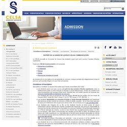 Admission - licence3