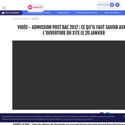 VIDÉO - Admission Post Bac 2017 : ce qu'il faut savoir avant l'ouverture du site le 20 janvier - LCI