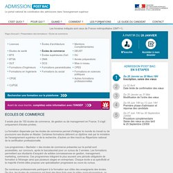 Admission Post Bac - Les formations