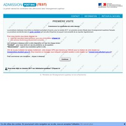 Admission Postbac en Test - Première Visite
