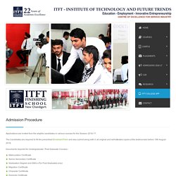 Admission Procedure — ITFT College