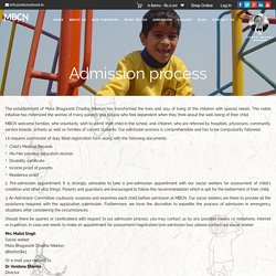 Admission process -