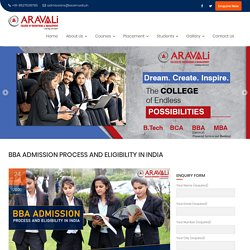 BBA Admission Process And Eligibility in India 2020