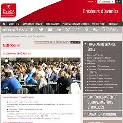 Admission - Programme Grande Ecole - ESSCA
